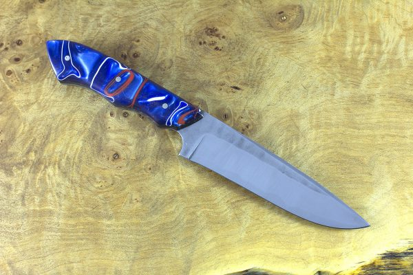 235mm FS1 Knife #28, Stainless 410 Super Blue Steel, Kirinite - 142 grams