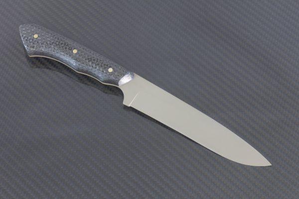 247mm FS1 Knife #41, Cerakote Blue Super Steel, F10 Carbon Fiber - 128 Grams