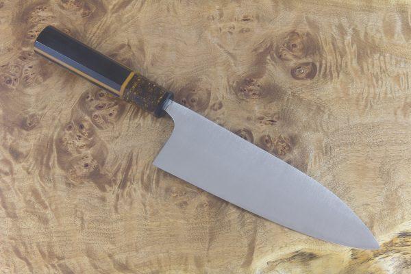 6.3 Sun Stainless Fukugo-zai Gyuto, Custom Handle - 194 grams