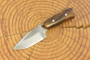 142 mm Muteki Series Freestyle Short & Stubby Neck Knife #857, Ironwood - 80 grams