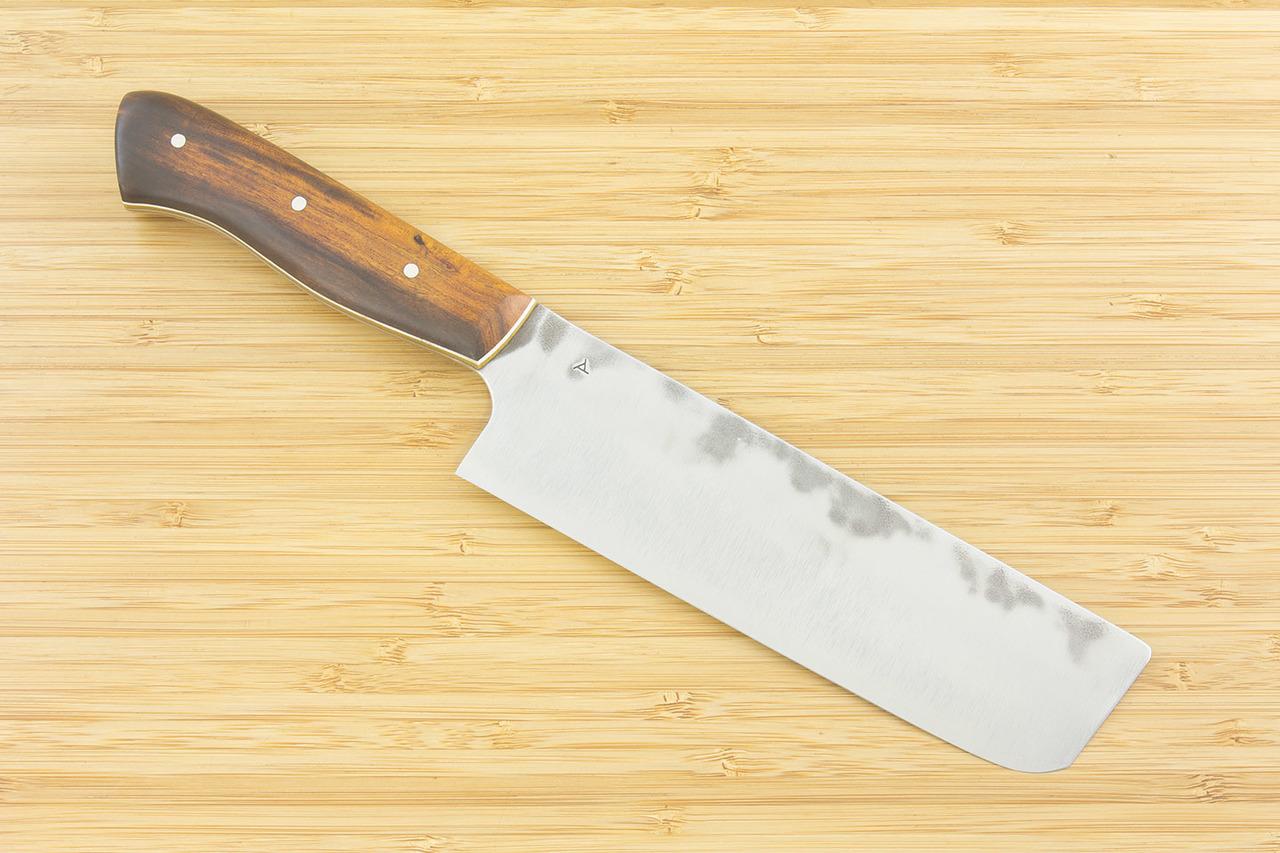 5 piece muteki series kitchen knife set 10 ironwood w white and natural
