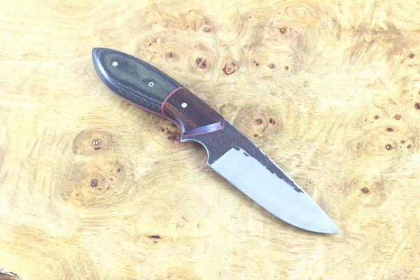 193mm Murray's 'Perfect' Neck Knife, Hammer Finish, Canvas Micarta / Ironwood - 99grams