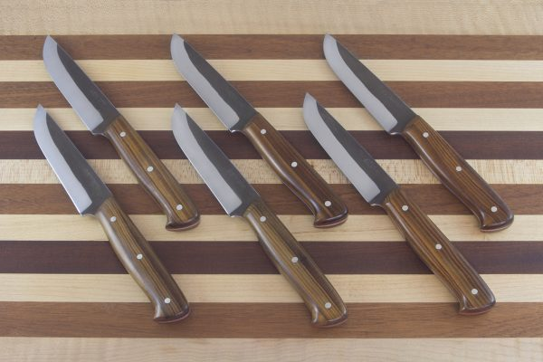 101-102mm Muteki Steak Knife Set, Lignum Vitae - 96-103 grams