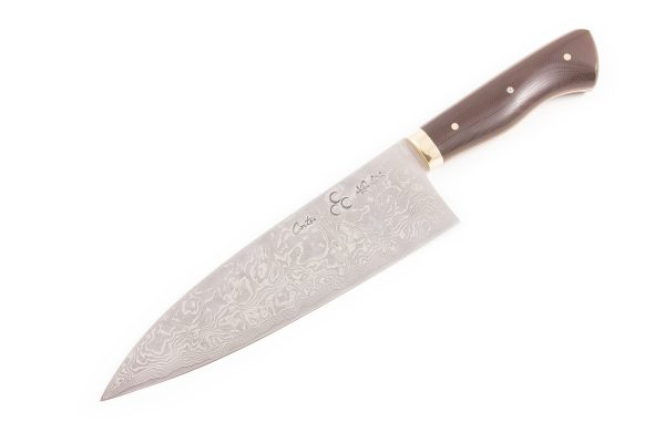"7.2"" Carter #1612 International Pro White/Damascus Funayuki"