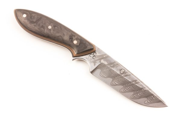 "3.66"" Carter #1619 White/Damascus Perfect Neck Knife"